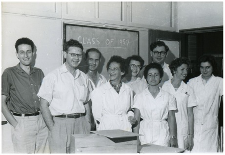 Crystallography at the Weizmann Institute in early 1957
